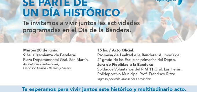 Tupungato te invita mañana a ser parte de un histórico Día de la Bandera al pie de los Andes