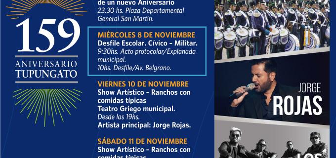 Karina, Los Nocheros y Jorge Rojas ya están listos para el cumple 159 de Tupungato! Vos también estás invitado!!