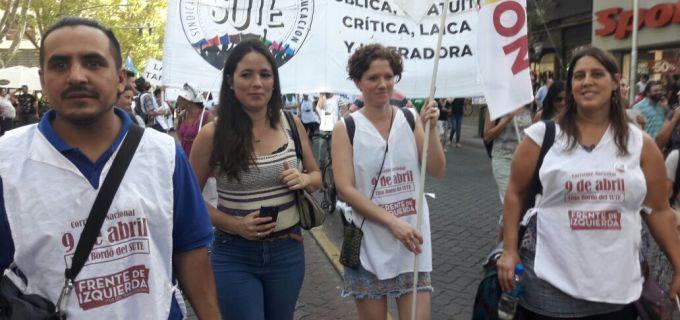 """Noe Barbeito presente en el 21F de Mendoza: """"Esta movilización un canal de expresión de muchísimos trabajadoras y trabajadores que están sufriendo los despidos, las suspensiones,los tarifazos. Es necesario iniciar un plan de lucha"""""""