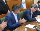 Gobierno, Municipio y la empresa que ganó la licitación firmaron el contrato para construir la nueva Peatonal de la Ciudad de San Juan