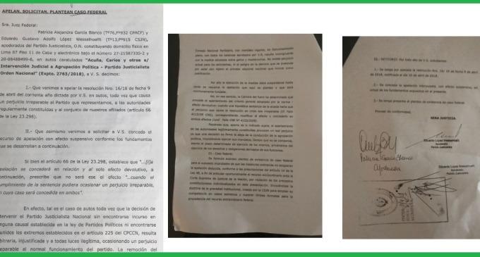 """José Luis Gioja apeló esta mañana la intervención del PJ y consideró que se trata de """"un fallo político"""""""