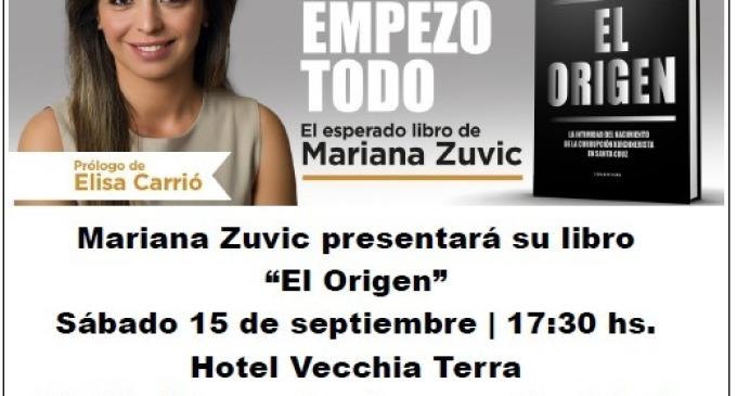 """Mariana Zuvic visitará San Rafael para presentar su libro """"El Origen"""": """"El matrimonio Kirchner dejaba a sus espaldas una provincia tomada por el tráfico de drogas, la mafia, el juego, la trata de personas y la miseria"""", anticipa la legisladora de Cambiemos"""