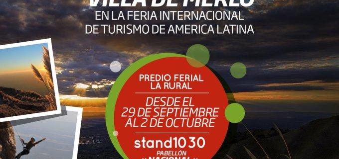 Este finde la Villa de Merlo estará presente en la Feria Internacional de Turismo en la Rural de Buenos Aires, con una especial delegación que contagiará la vital energía del espíritu serrano