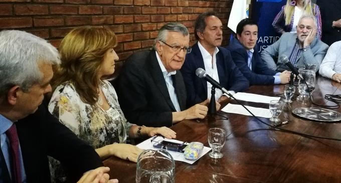 Gioja, Scioli y Nardini, principales autoridades del PJ Nacional, se reunieron ante más de 200 emprendedores y conformaron la Mesa Empresaria Justicialista